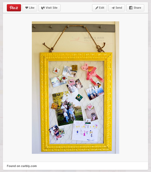 diy framed picture hanger