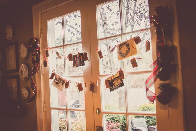 christmas card display garland