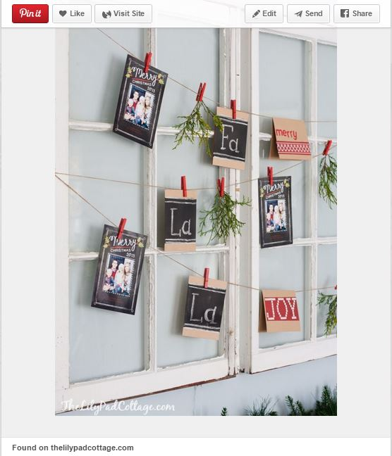 christmas card display garland