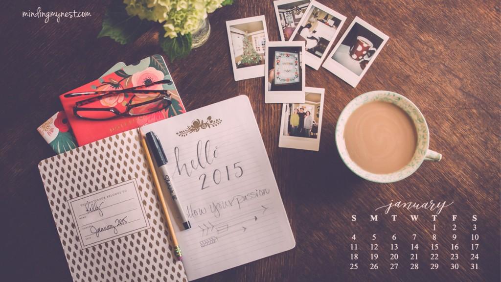 January 2015 Desktop Calendar
