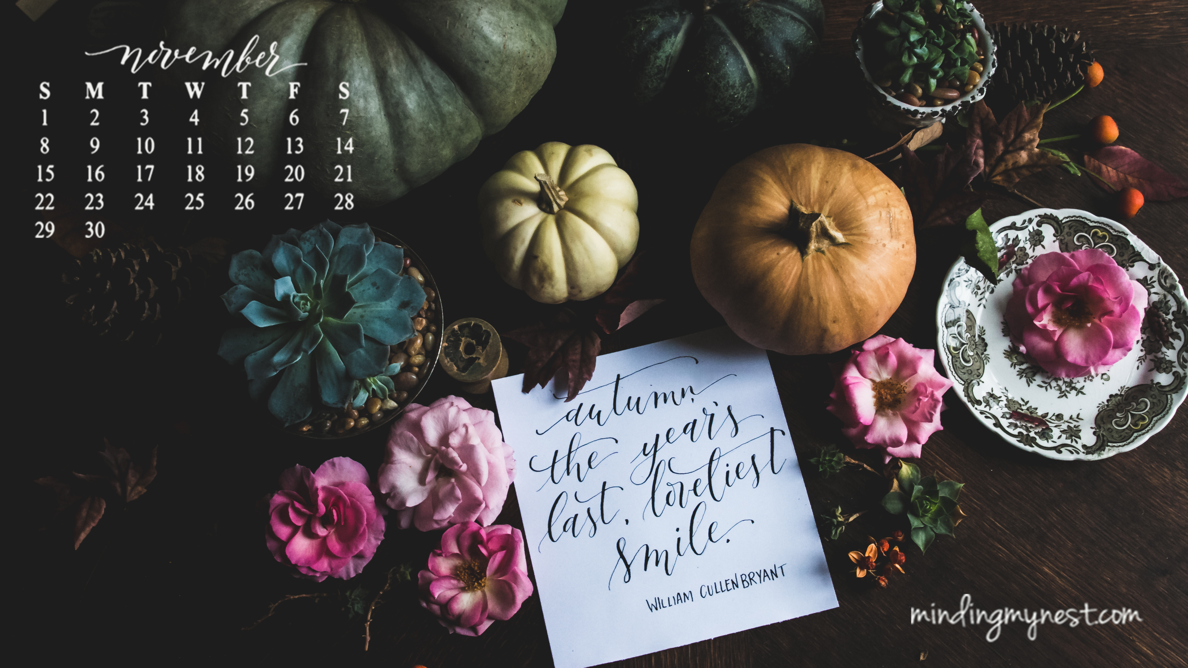 Free Desktop Calendar Wallpaper November : Desktop calendars minding my nest