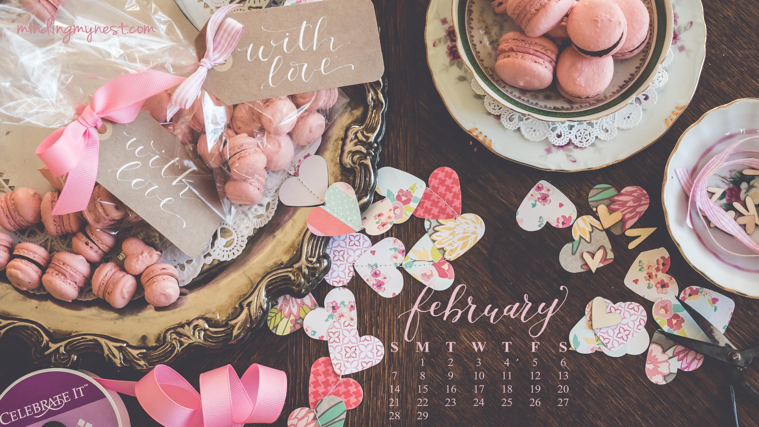 Desktop Calendar February 2016