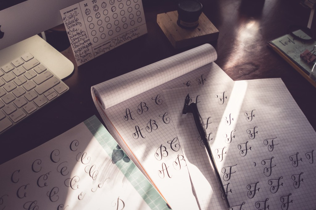 modern calligraphy practice