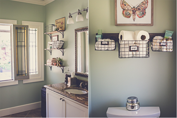 a modern farmhouse bathroom update