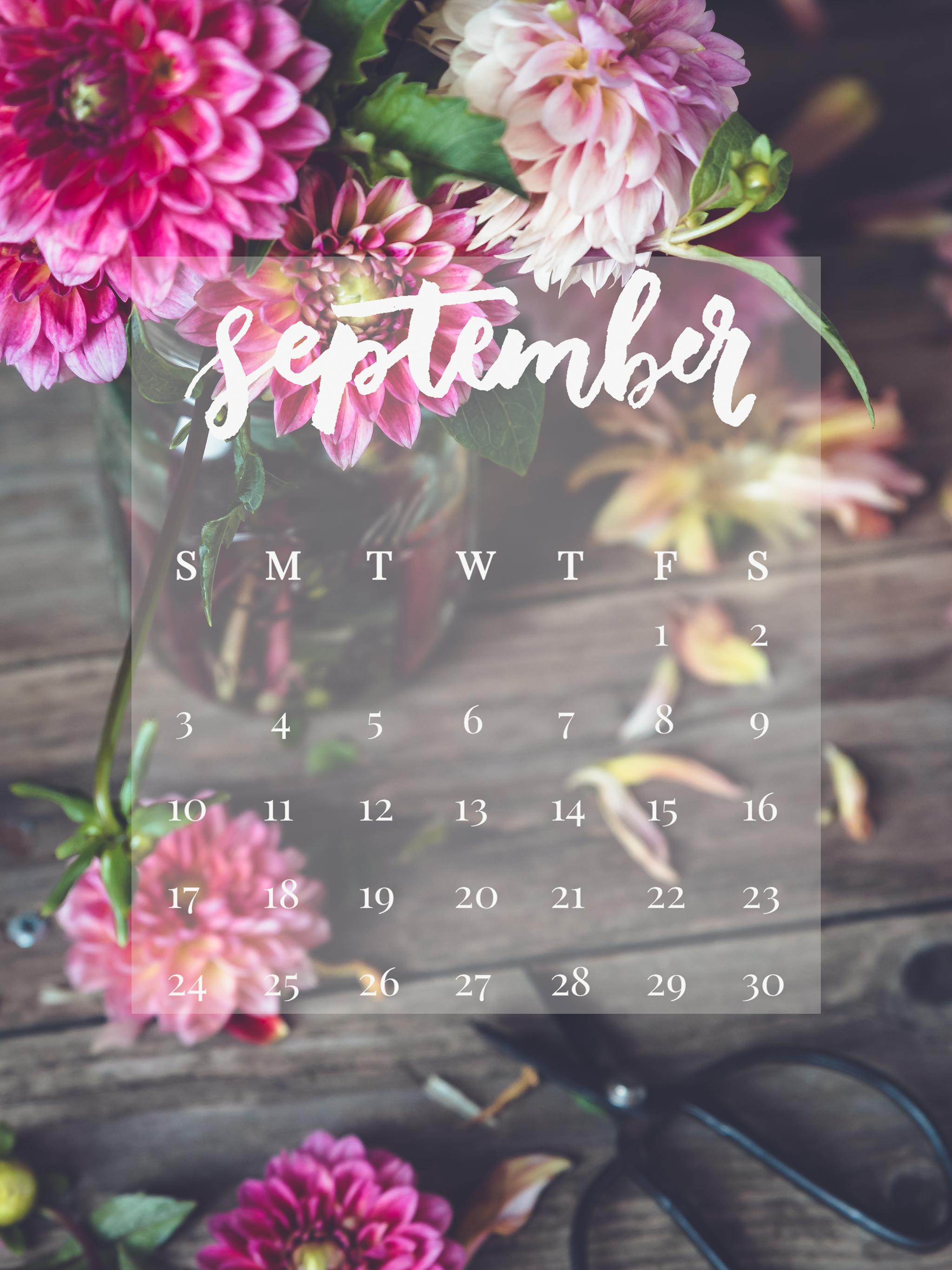 September 2017 Device Calendar