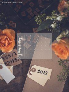January 2017 Device Calendar