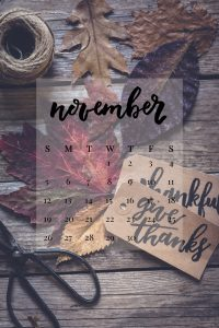 November 2017 Device Calendar