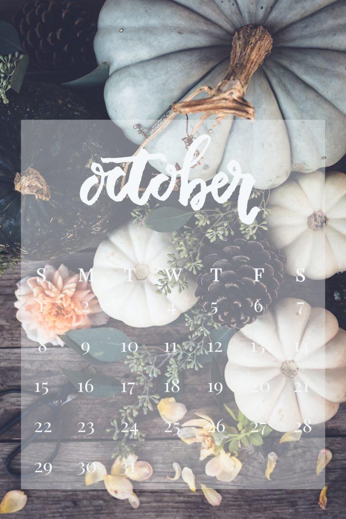 October 2017 Device Calendar