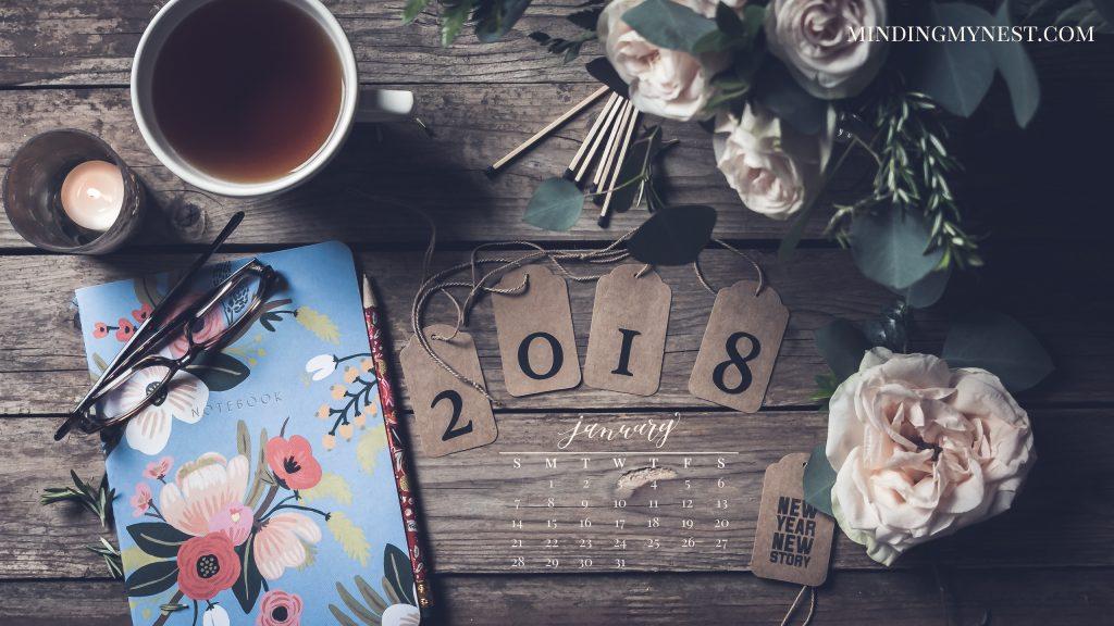 January 2018 Desktop Calendar