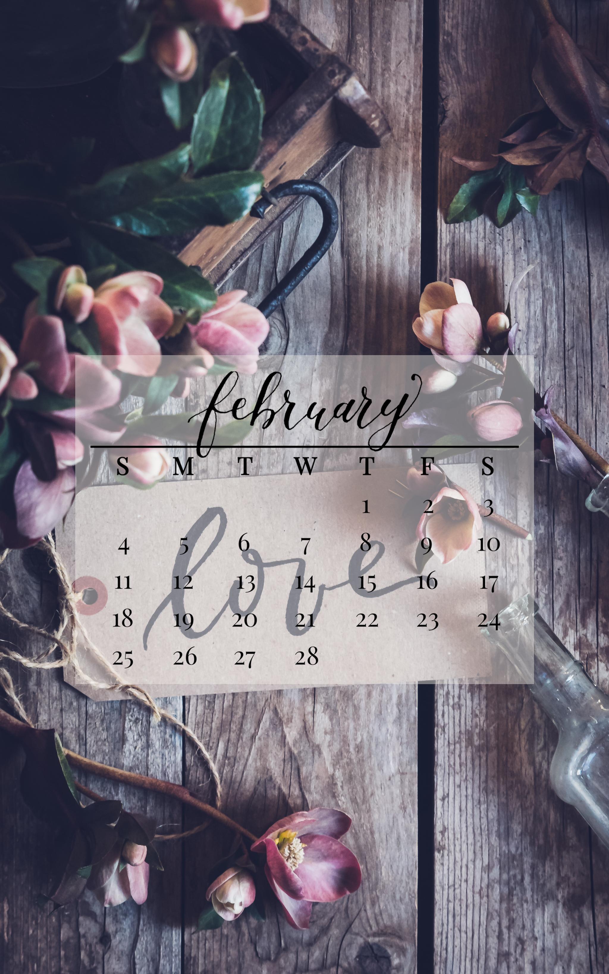 February 2018 Device Calendar
