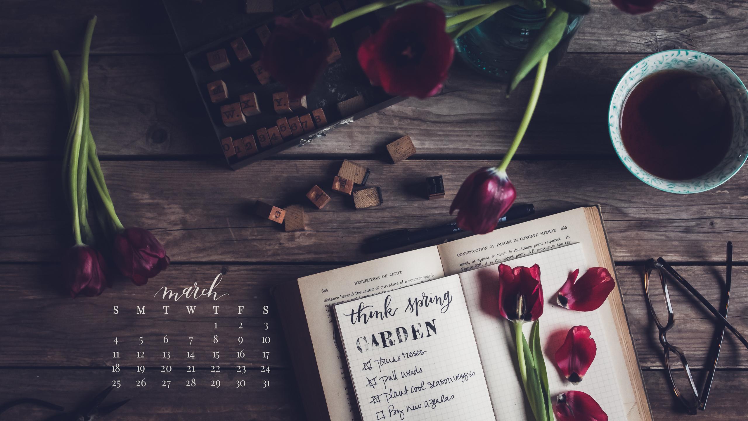 March 2018 Desktop Calendar