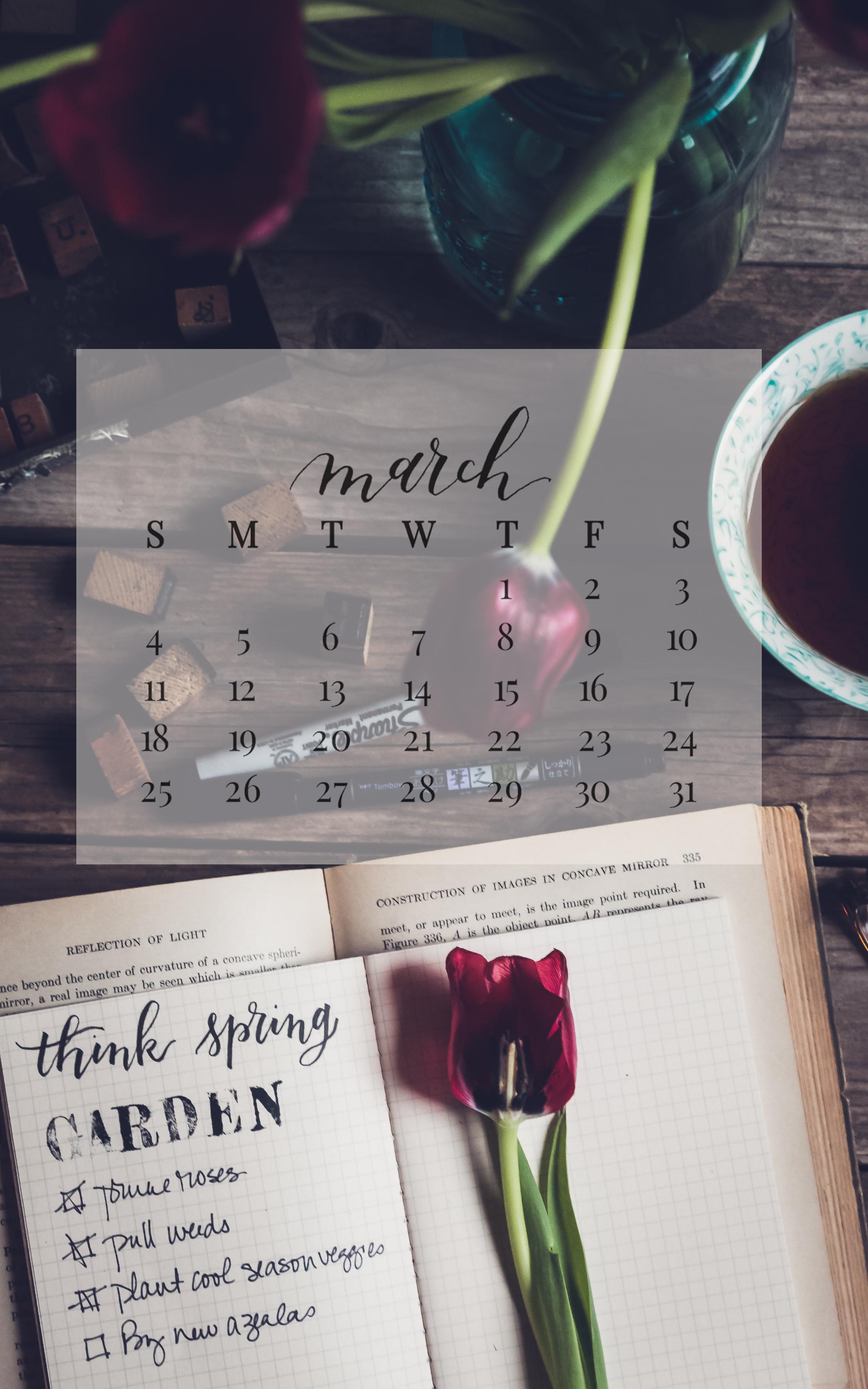 March 2018 Device Calendar