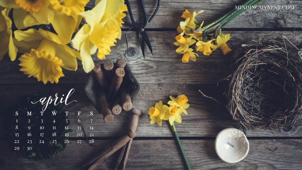 April 2018 Desktop Calendar