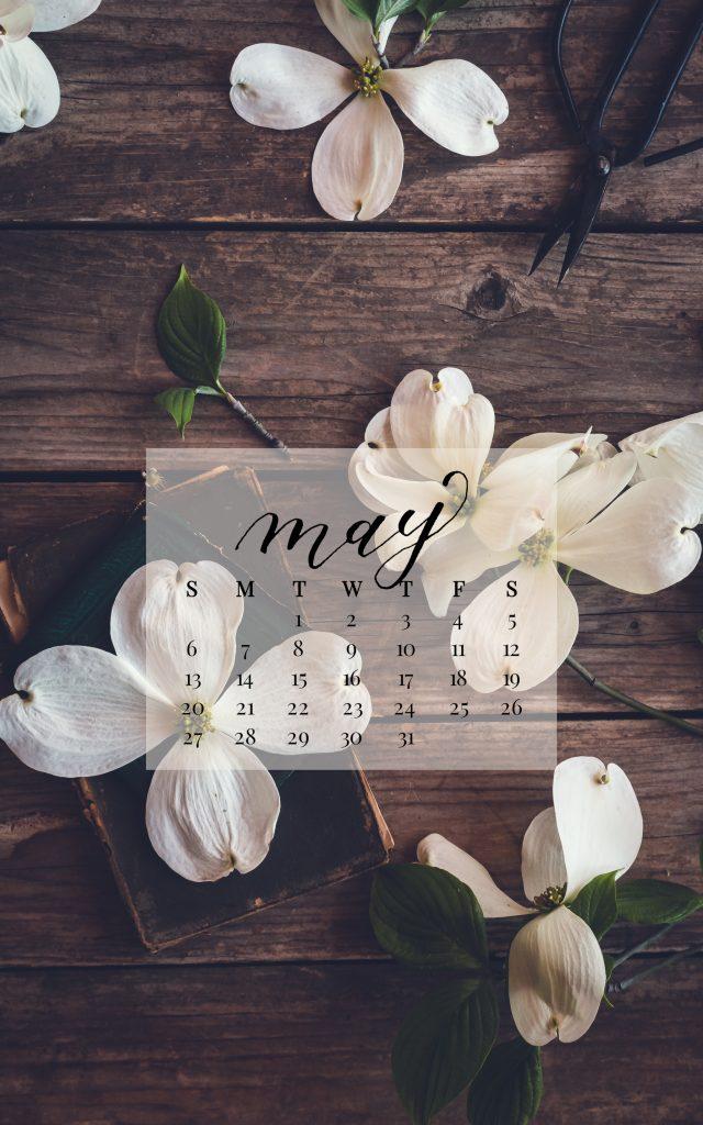 May 2018 Device Calendar