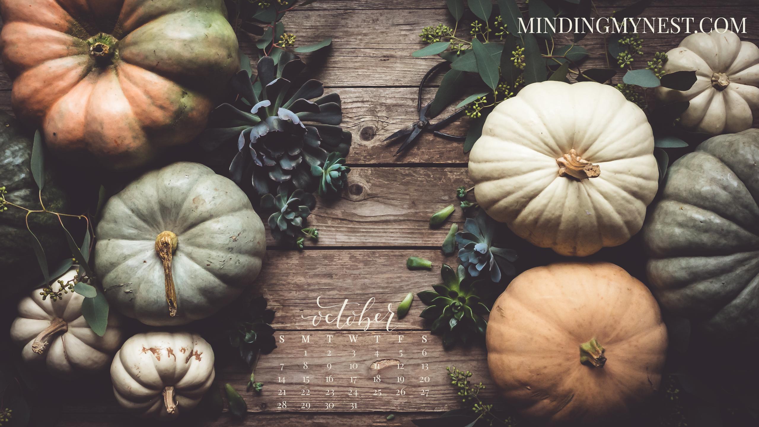 October 2018 Desktop Calendar