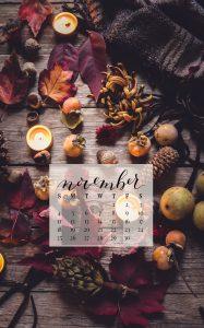 November 2018 Device Calendar