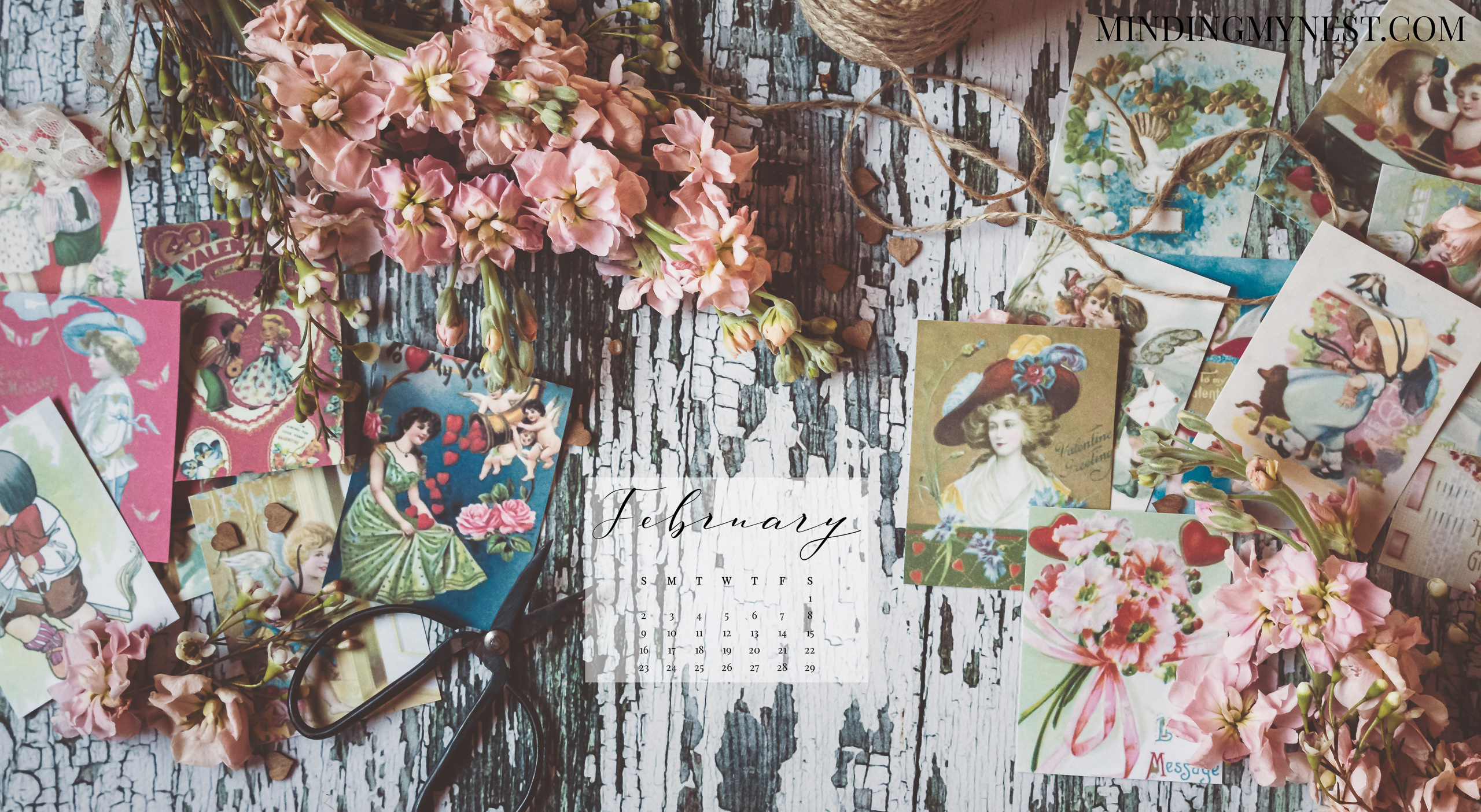 February 2020 Desktop Calendar