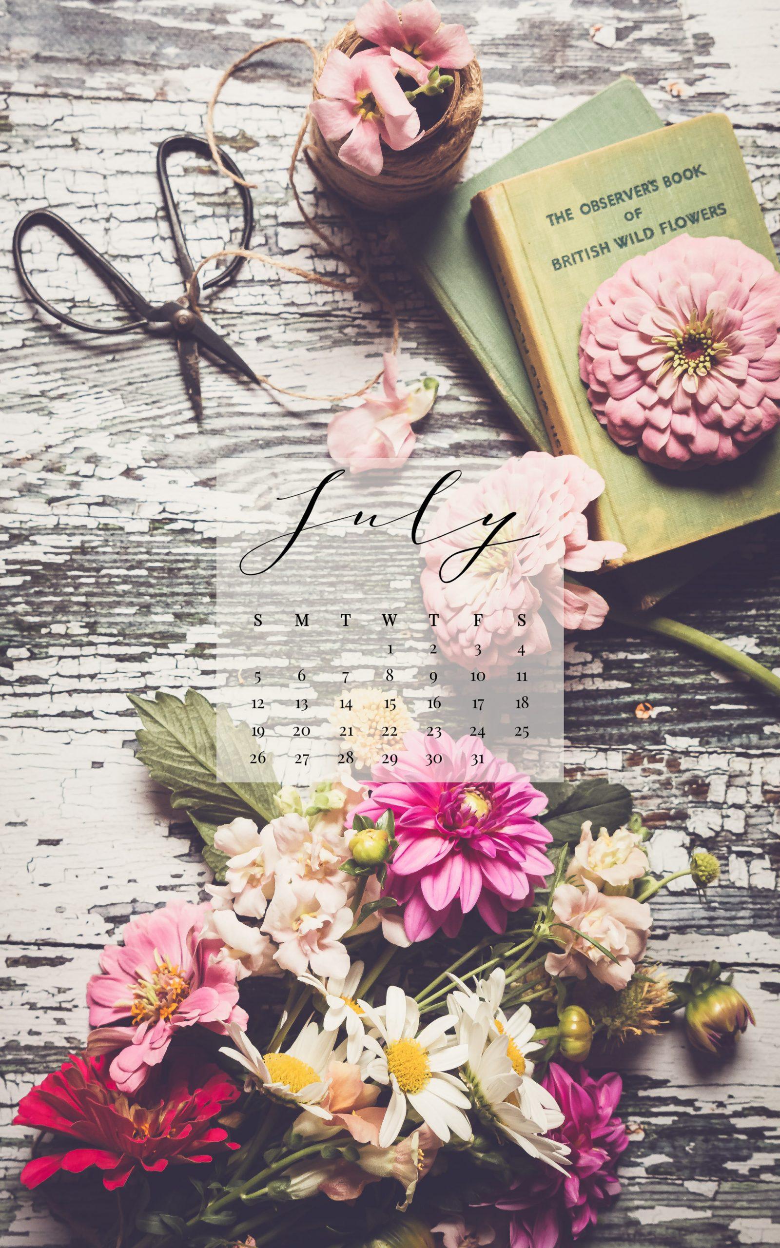 July 2020 Device Calendar