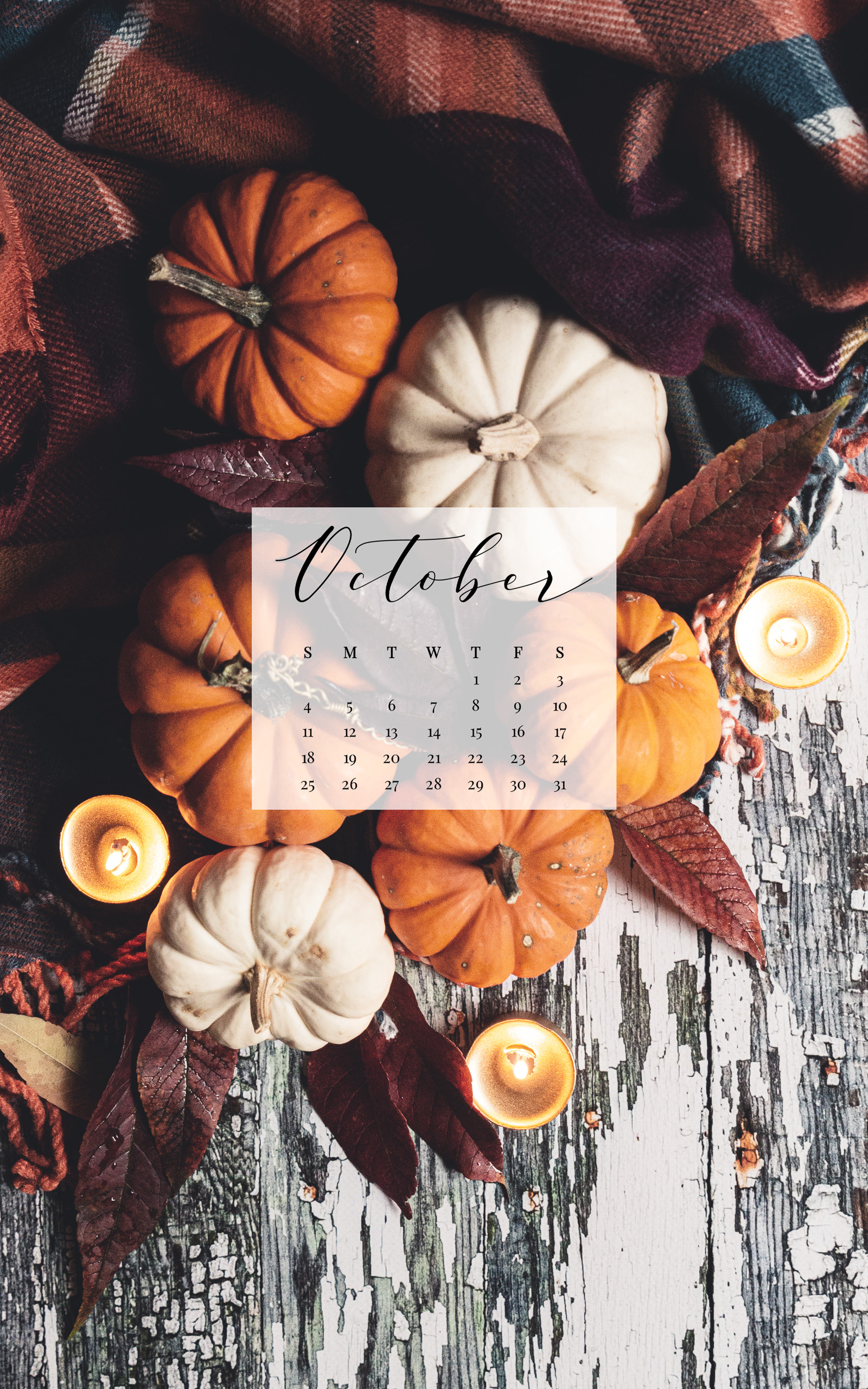 October 2020 Device Calendar