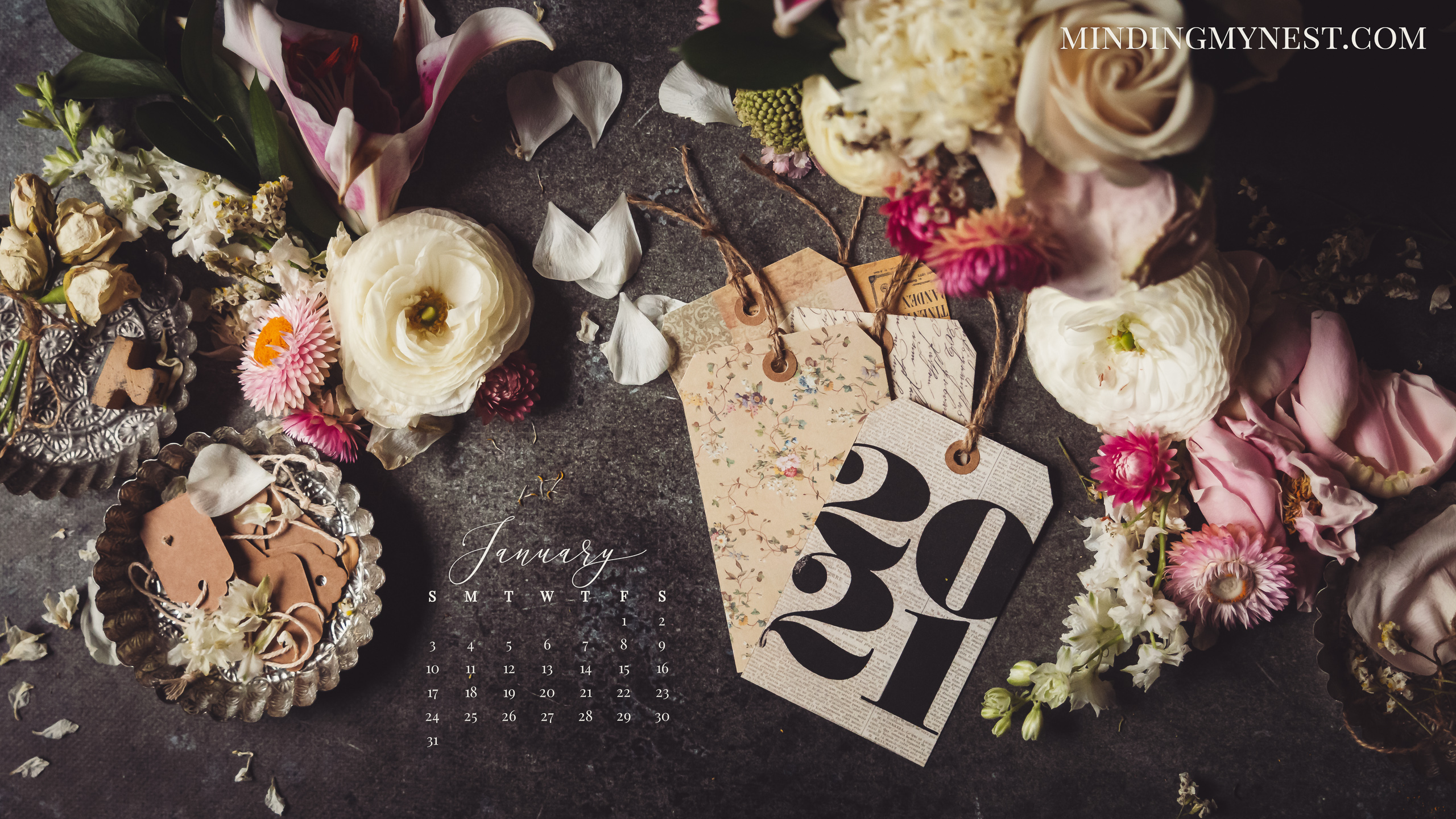 January 2021 Desktop Calendar 2021 Desktop & Device Calendars   minding my nest