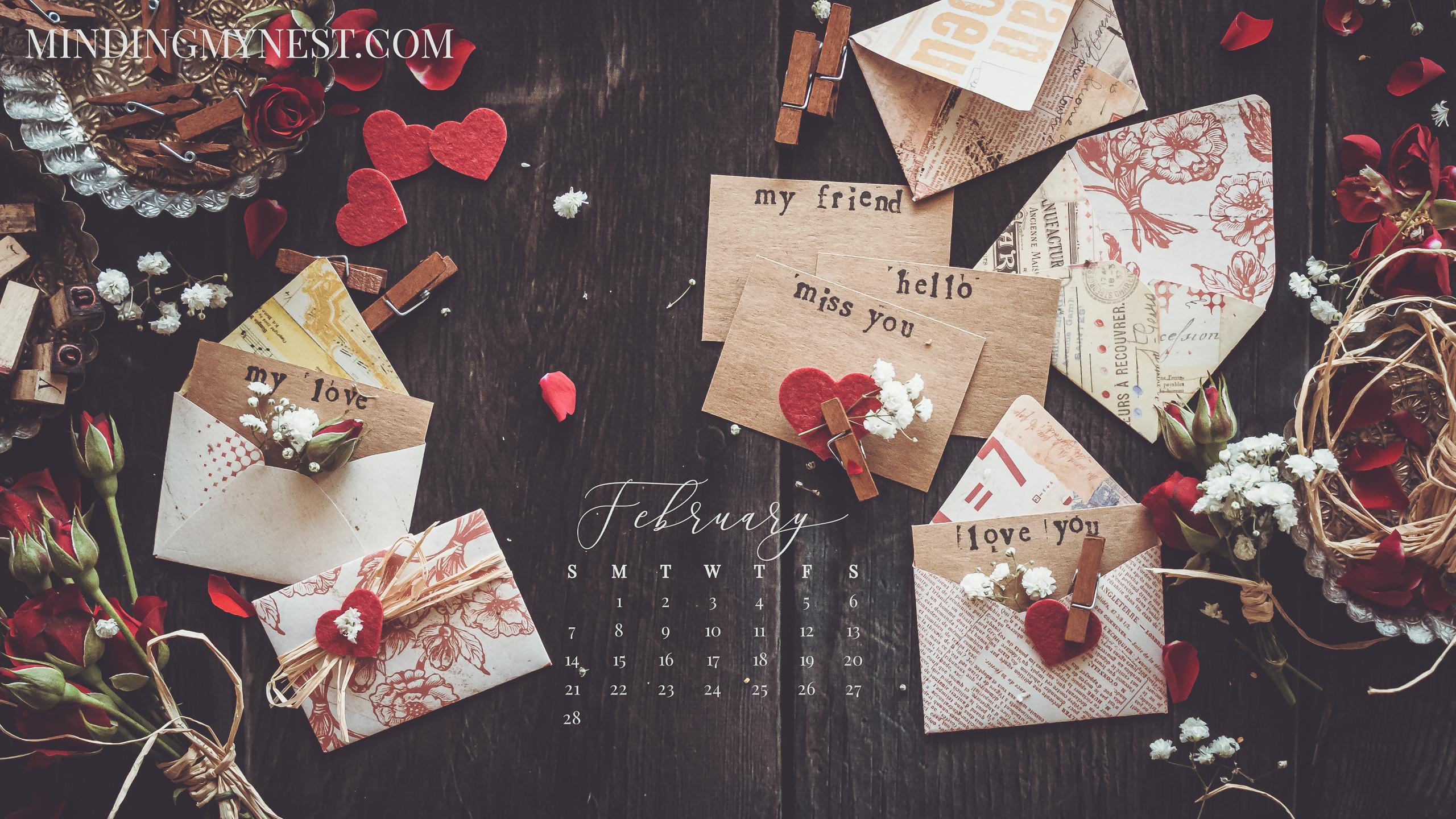 February 2021 Desktop Calendar