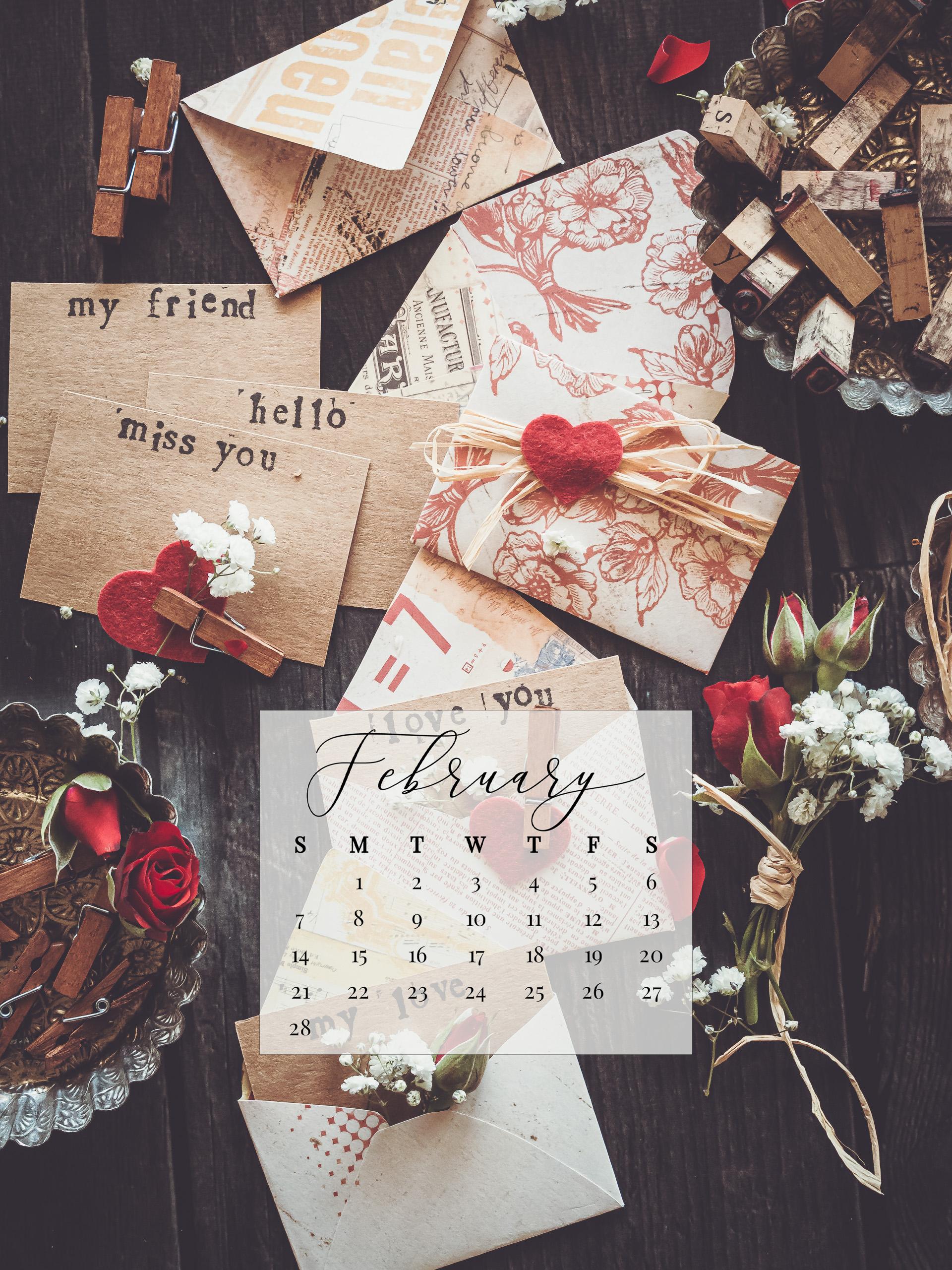 February 2021 Device Calendar