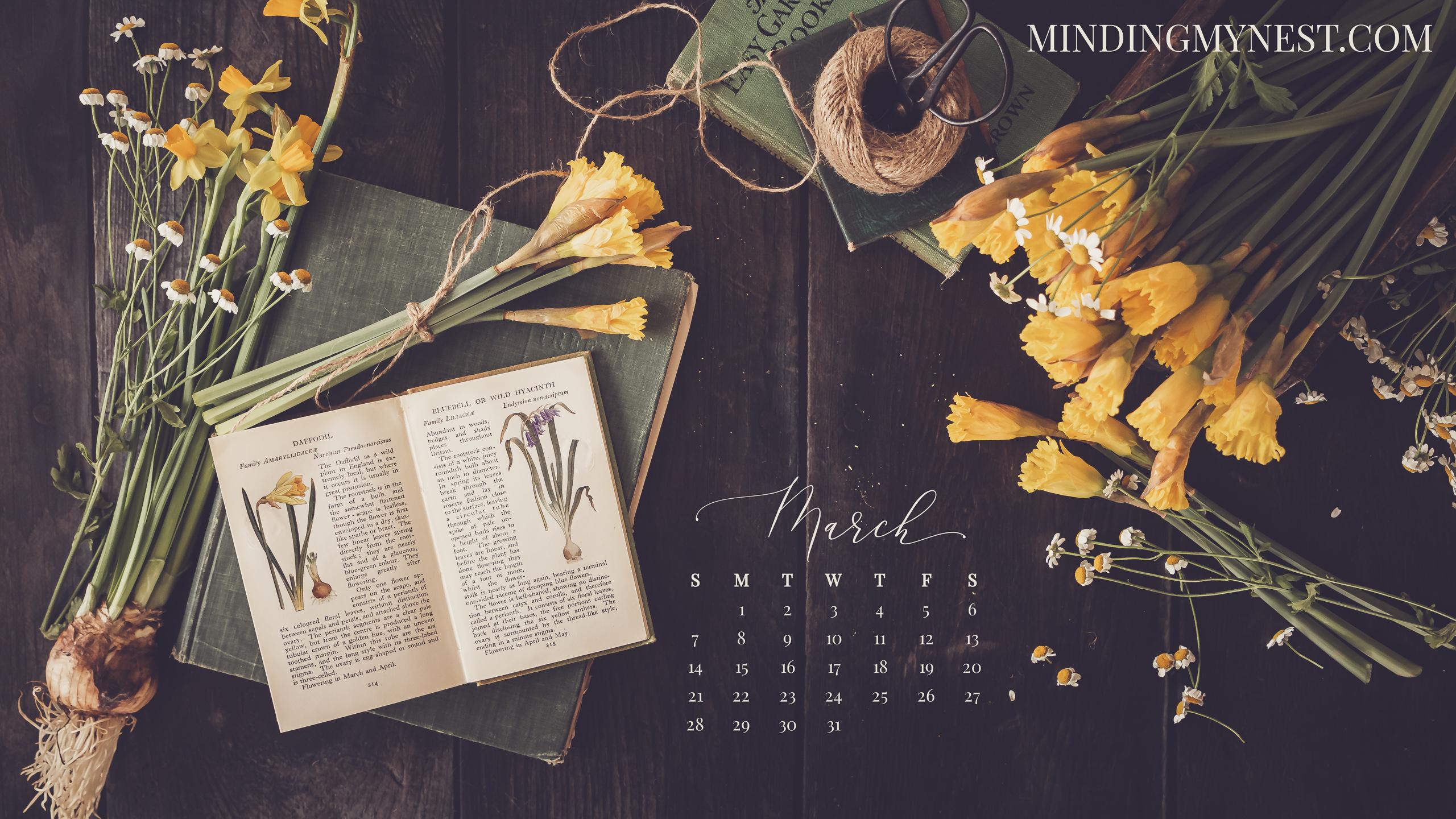 March 2021 Desktop Calendar