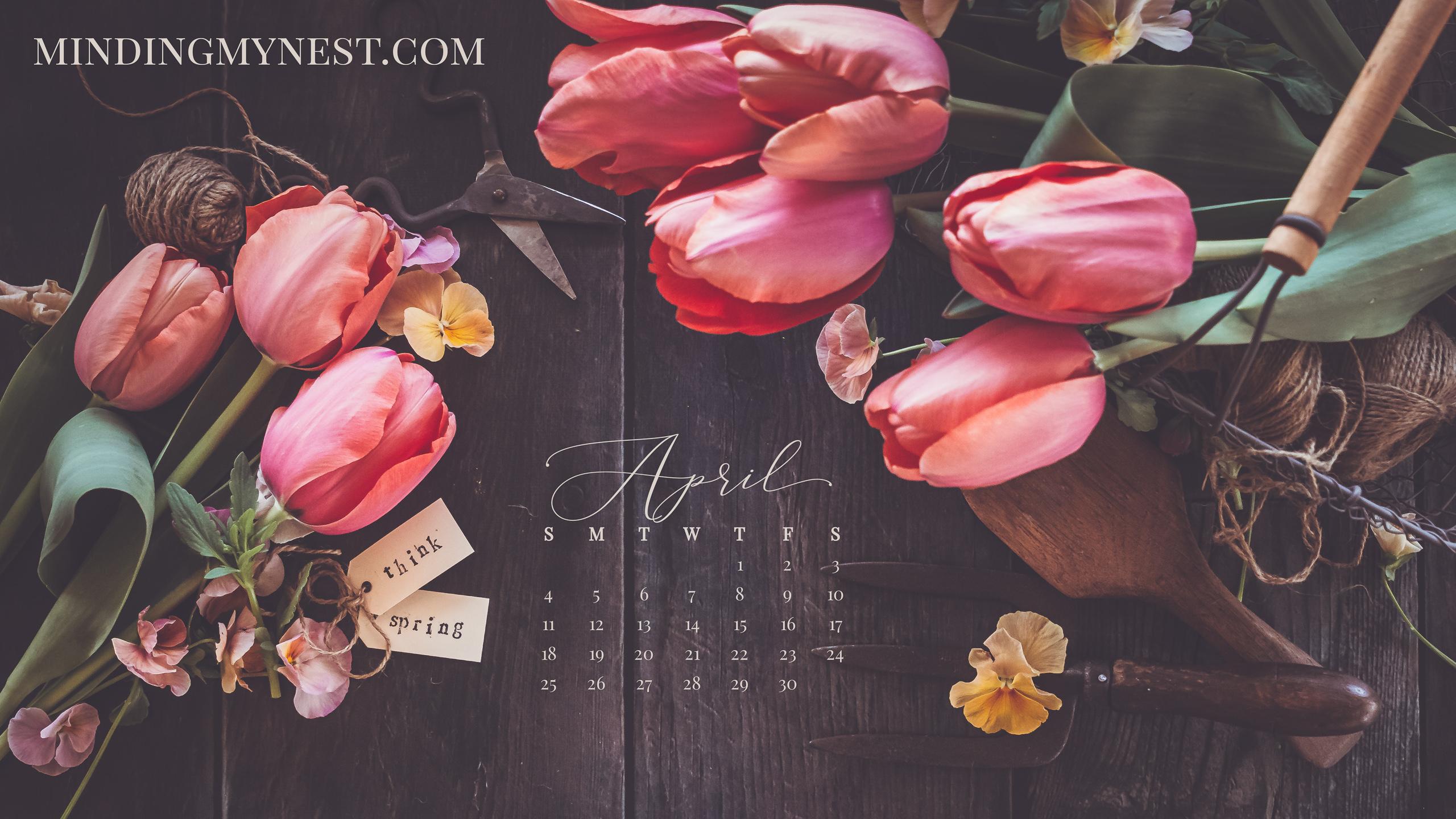April 2021 Desktop Calendar