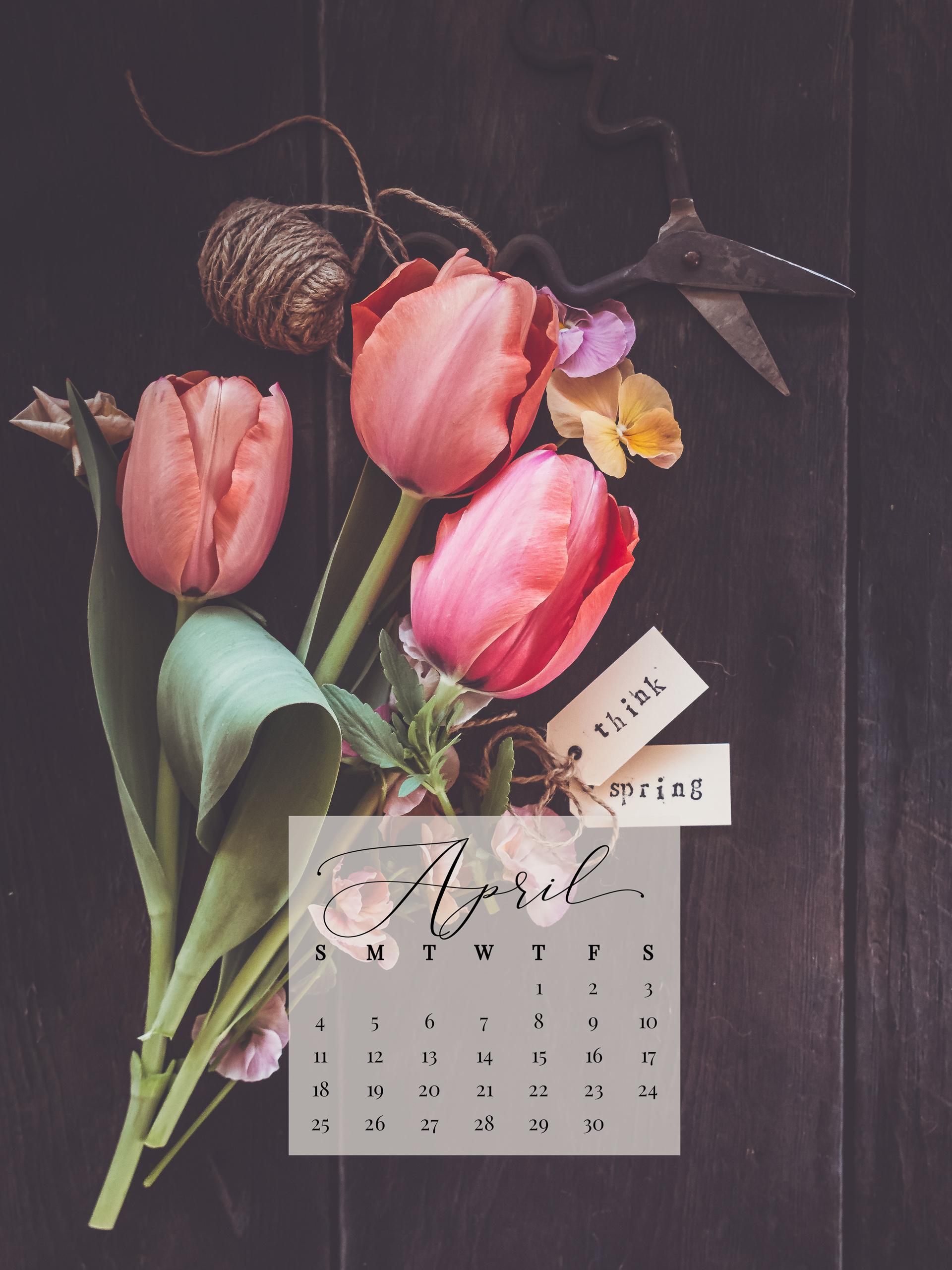 April 2021 Device Calendar