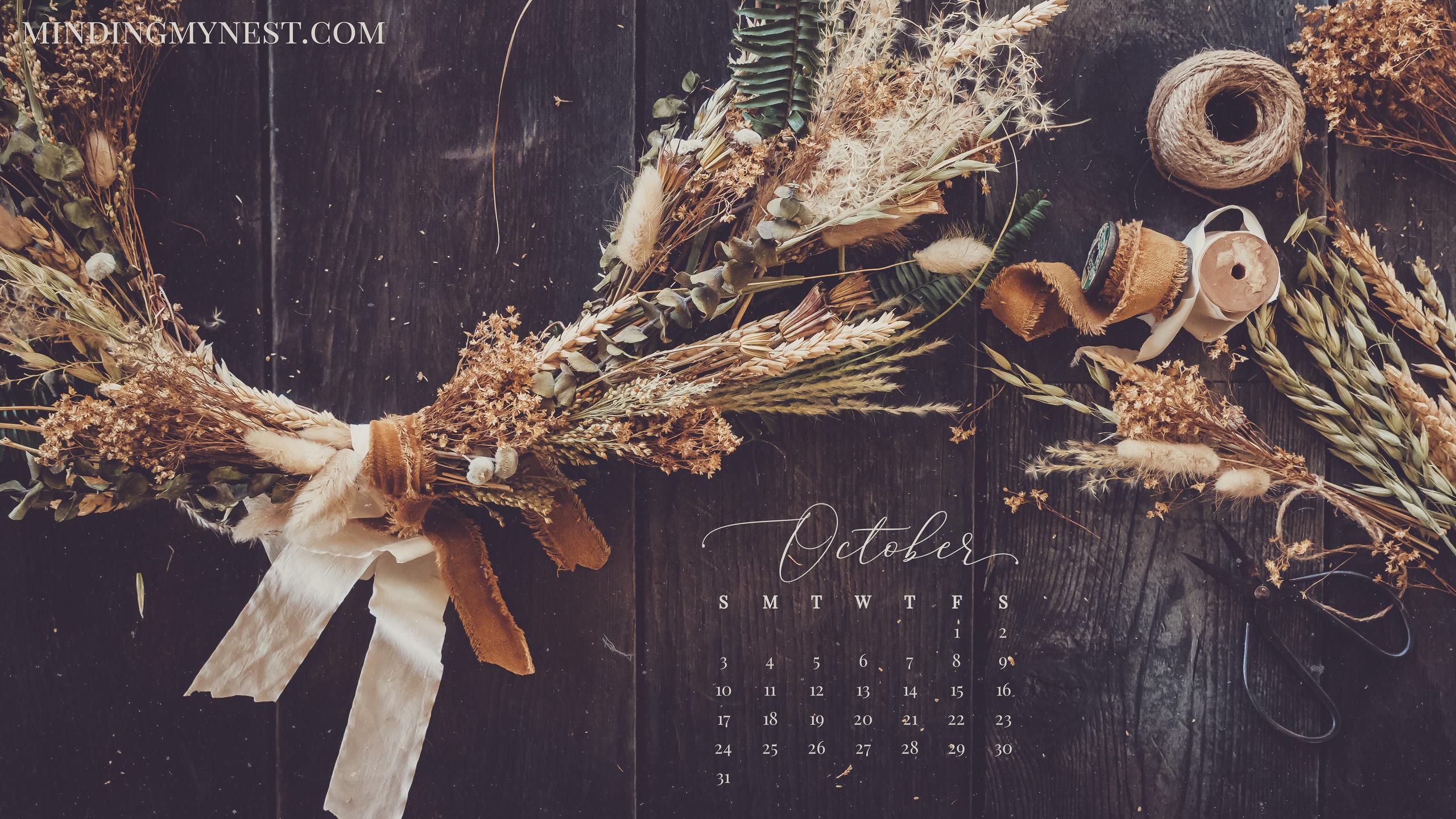 October 2021 Desktop Calendar