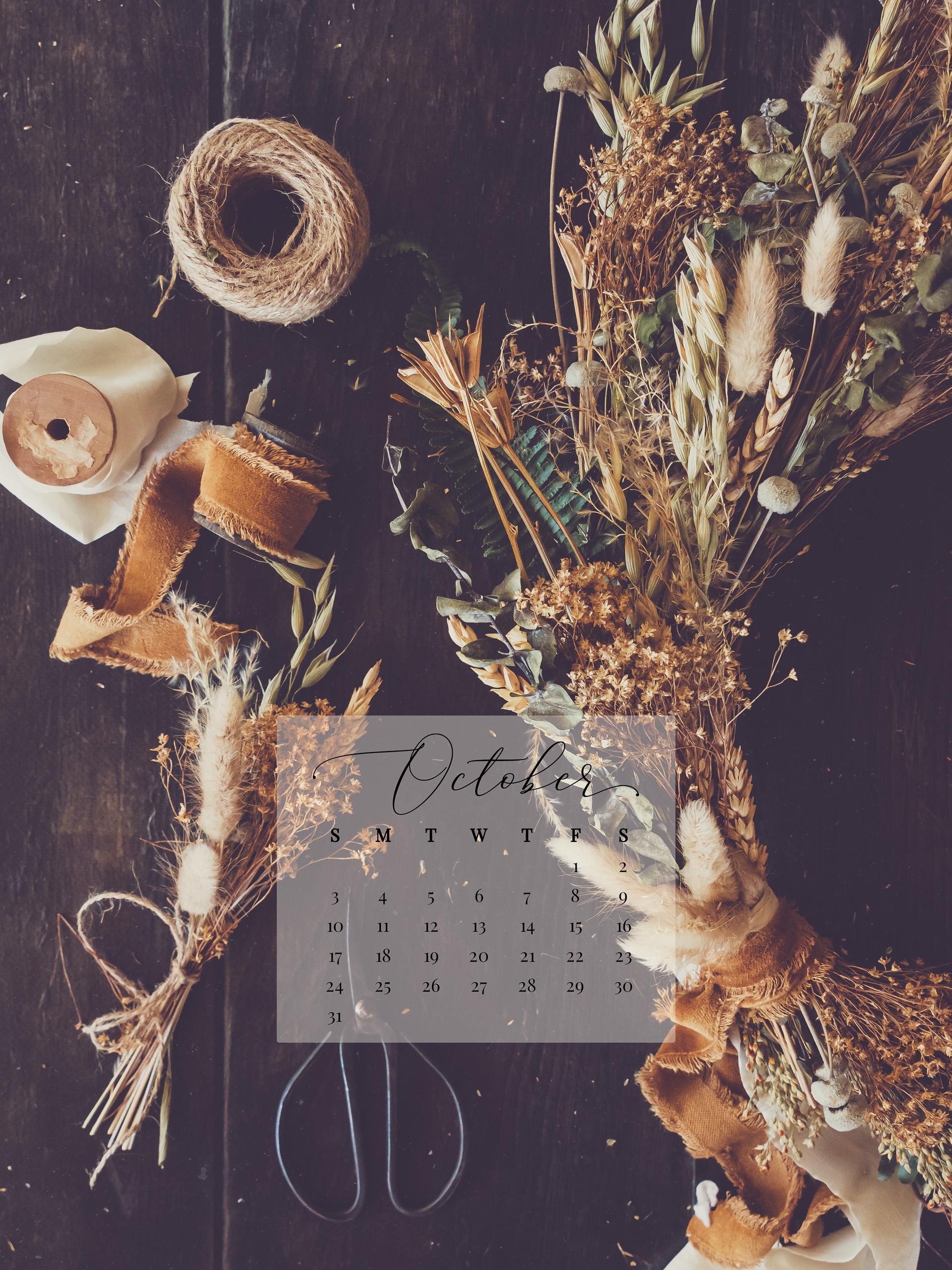 October 2021 Device Calendar